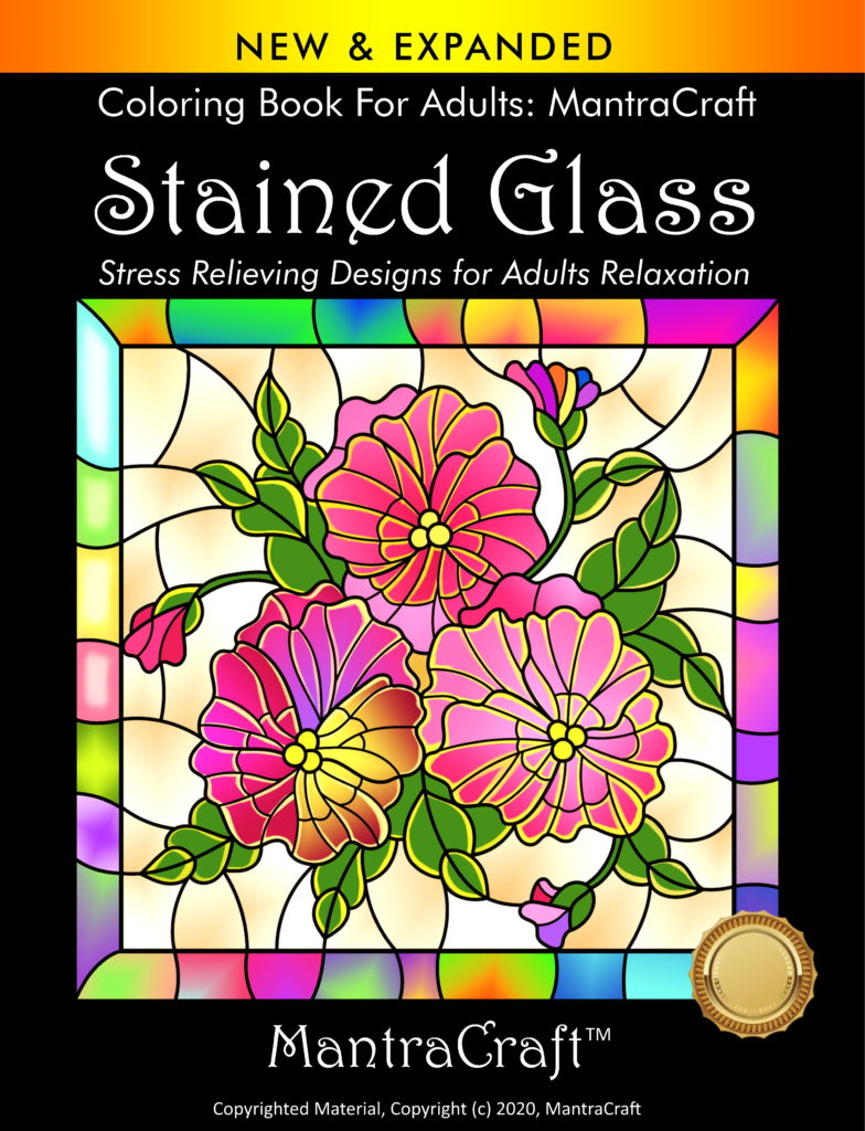 Coloring Book For Adults: MantraCraft®: Stained Glass ...
